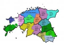 """Foto: illustreeriv pilt """"Omavalitsuste arv maakondades peale haldusterritoriaalset reformi"""""""